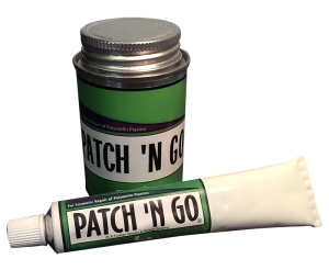 Patch 'n Go® helps cosmetic Repairs polyolefin plastics