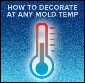 How to Decorate at any mold temp