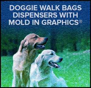 Doggie Walk Bags Dispensers with Mold In Graphics