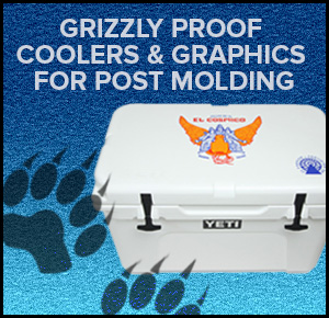 Grizzly Proof Coolers & Graphics for Post Molding