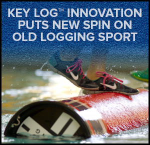 key log innovation puts new spin on old logging sport