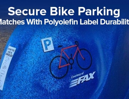 Secure Bike Parking Matches With Polyolefin Label Durability