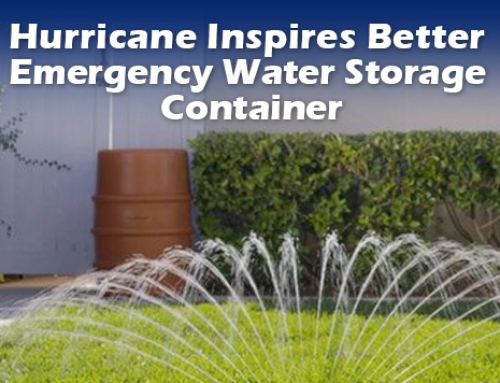 Hurricane Inspires Better Emergency Water Storage Container